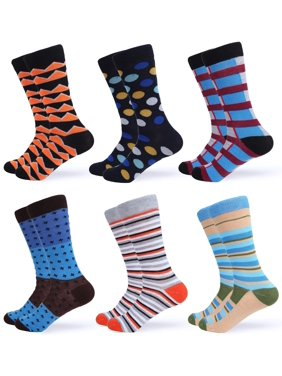 53aaf4b32892 Product Image Gallery Seven Mens Dress Socks Funky Colorful Socks for Men -  6 Pack - Casual collection