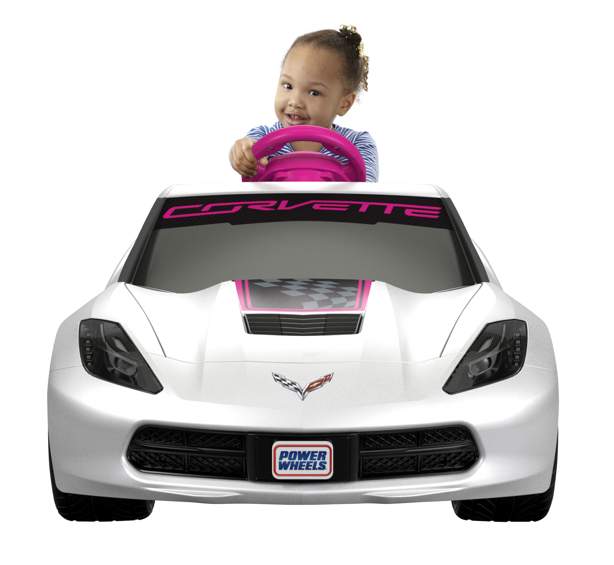 Fisher-Price Power Wheels Girls' Corvette 6V Battery-Powered Ride-On