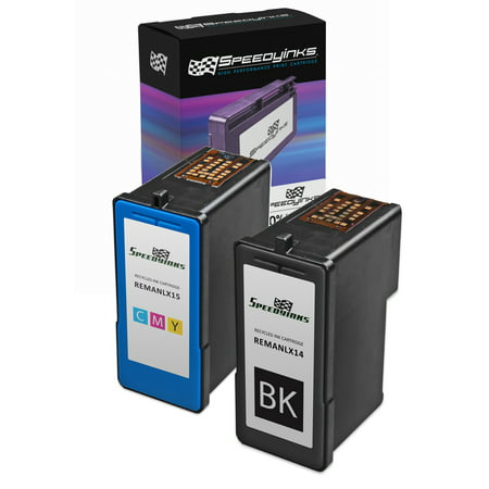 Speedy Inks - Remanufactured Lexmark #14 18C2090 Black & #15 18C2110 Color Ink Cartridges: 1 Black 1 Color