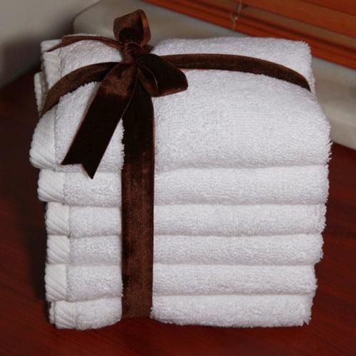 Luxury Hotel & Spa 100% Turkish Cotton Soft Twist Washcloths - Set of 6