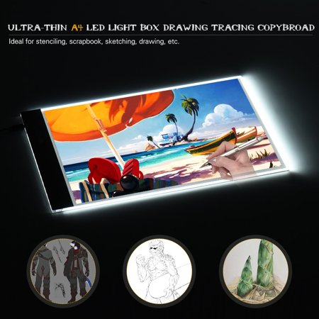 Portable A4 LED Light Box Drawing Tracing Tracer Copy Board Table Pad Panel Copyboard with USB Cable for Artist Animation Sketching Architecture Calligraphy Stenciling Diamond Painting - image 2 of 7