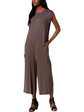 Eileen Fisher Womens Wide Leg Sleeveless Jumpsuit Green XL