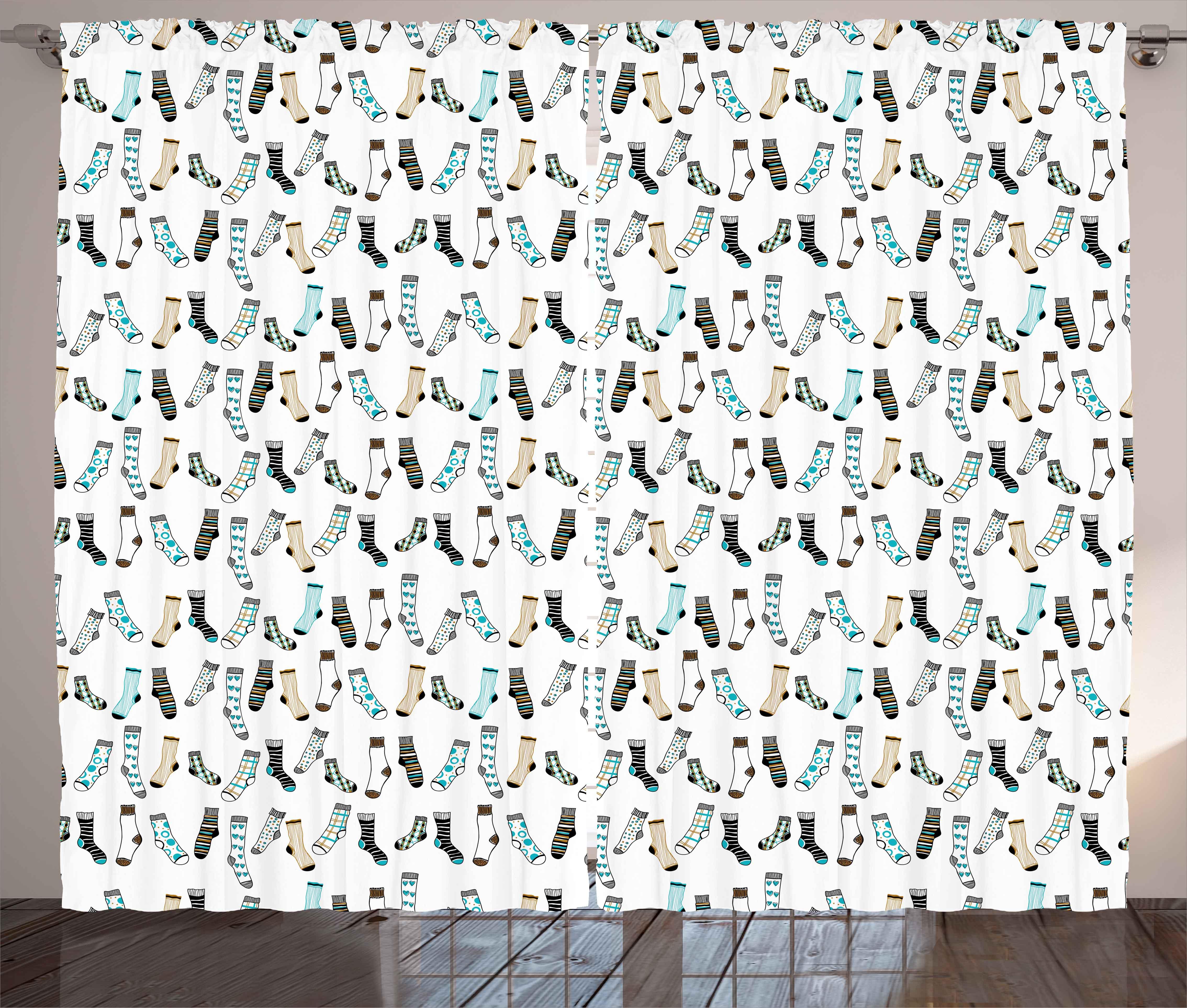 Cartoon Curtains 2 Panels Set Messy Teenager Kids Room