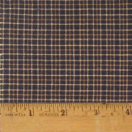 Antique Black Homespun Cotton Fabric - Sold by the Yard - JCS Fabric