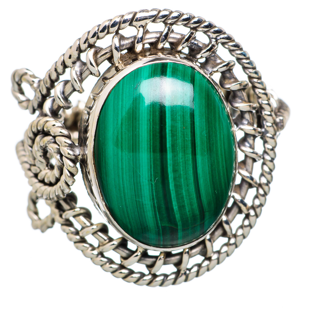 Ana Silver Co Malachite 925 Sterling Silver Ring Size 7 - Handmade Fashion Gemstone Jewelry RING815469