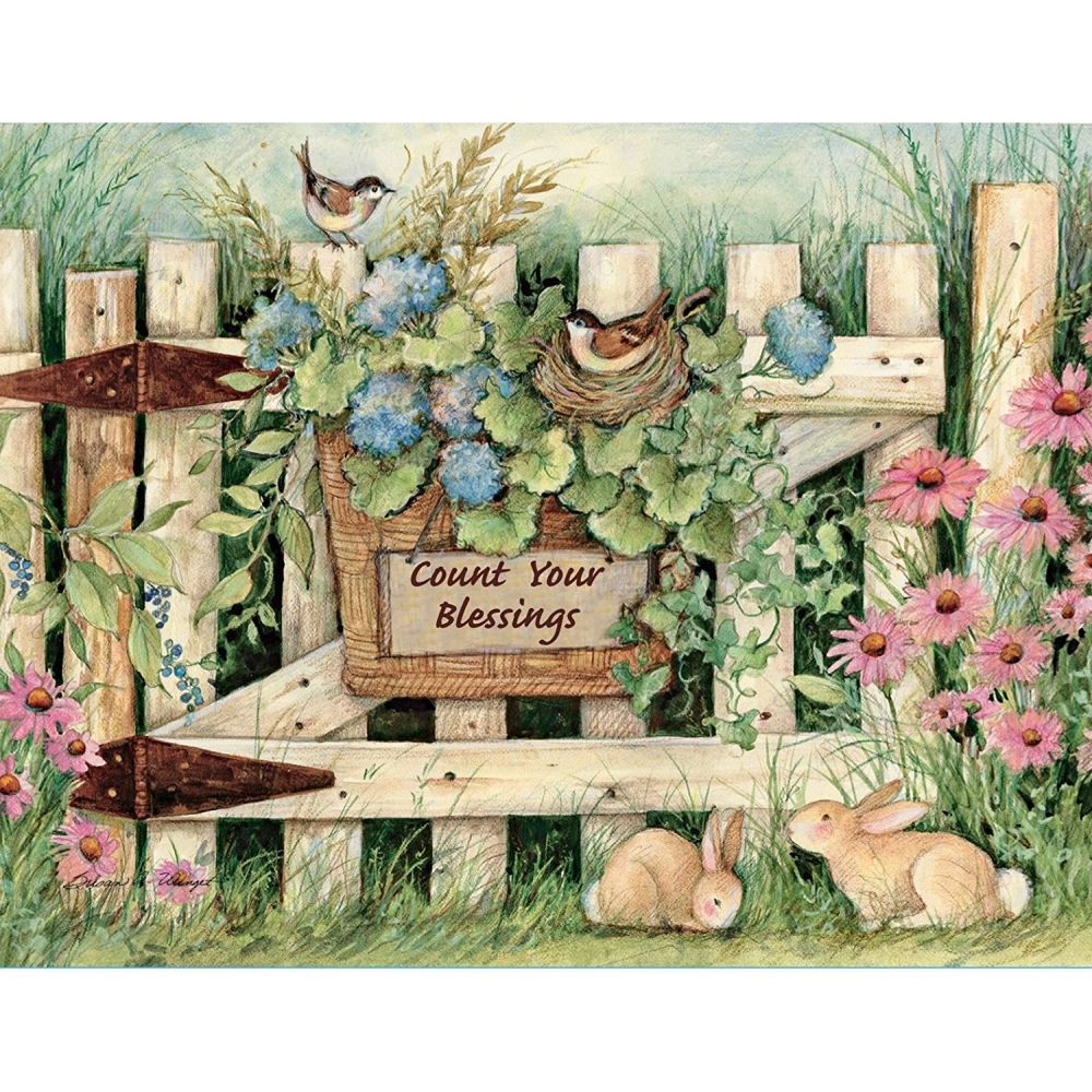 Lang Garden Gate Boxed Notecard by Susan Winget, 4 x 5 Inches, 13 ...