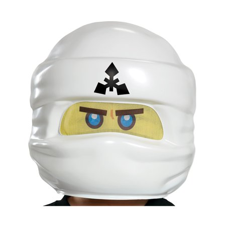 Child's LEGO® Ninjago Movie Zane White Ninja Mask Costume - Movie Mask
