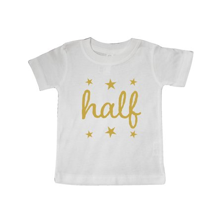 4d2f00280 Inktastic - Half Birthday 1/2 Photo Outfit Baby T-Shirt - Walmart.com
