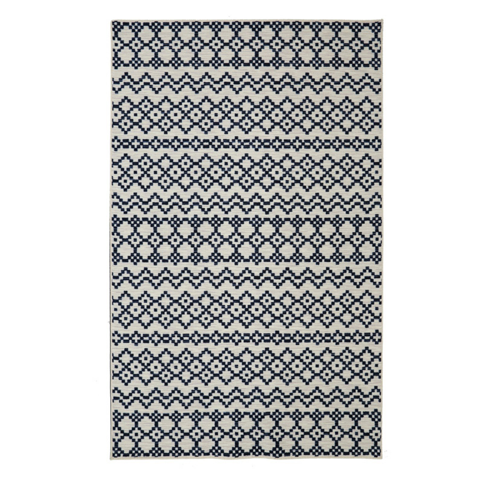 Mohawk Home Loop Print Base Aztec Bands Indoor Area Rug