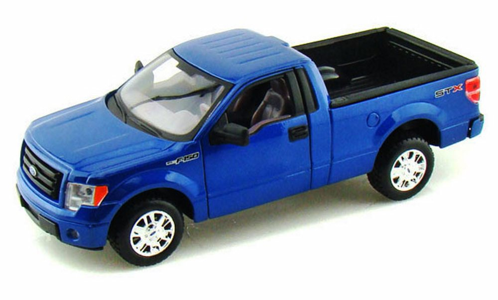 2010 Ford F-150 STX Pickup Truck, Blue Maisto 31270 1 27 scale diecast model car by Maisto