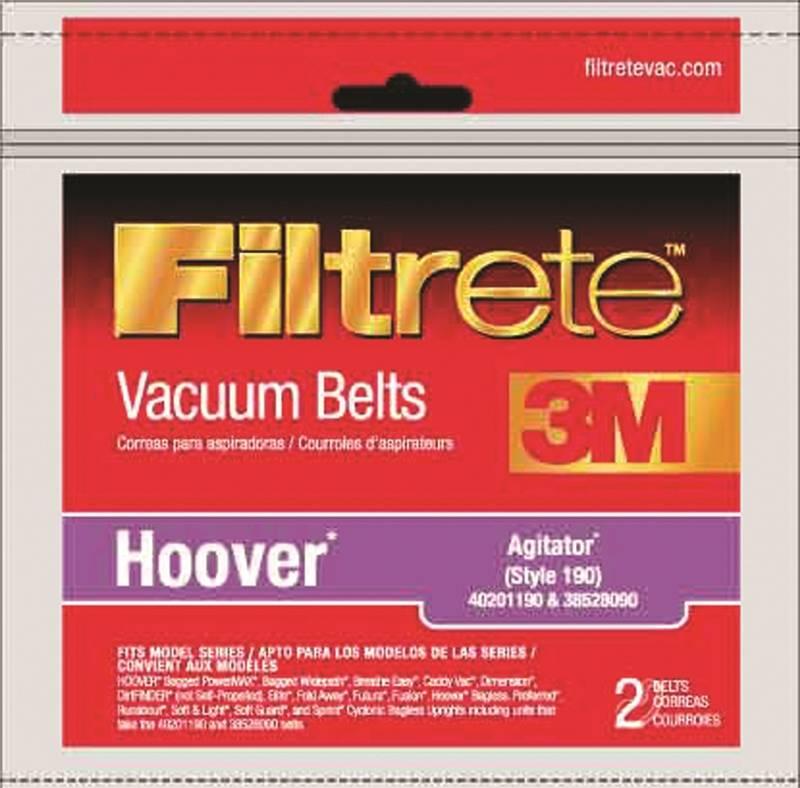 Filtrete 64190A-12 Agitator Type 190 Vacuum Cleaner Belt, Clear - image 1 of 1