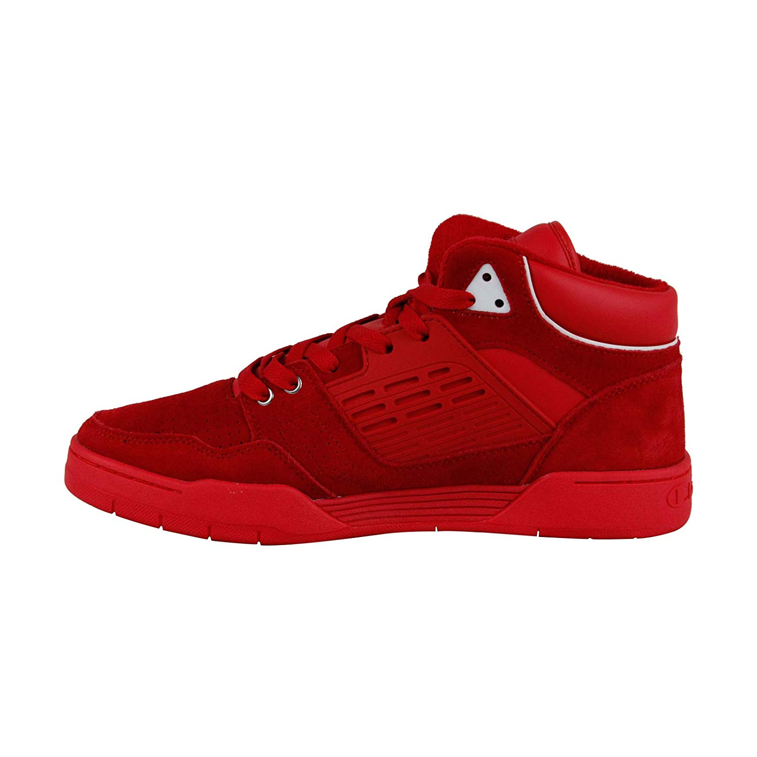 Champion 3 On 3 Mens Red Suede Low Top
