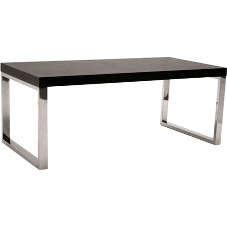 Ronne coffee table black and chrome Black and chrome coffee table