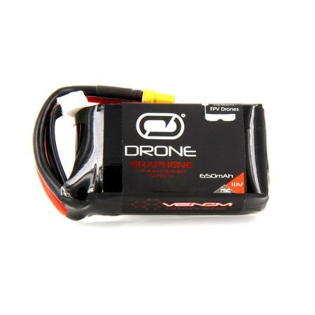 Venom Graphene 75C 3S 650mAh 11.1V Drone Racing LiPo Battery with XT30