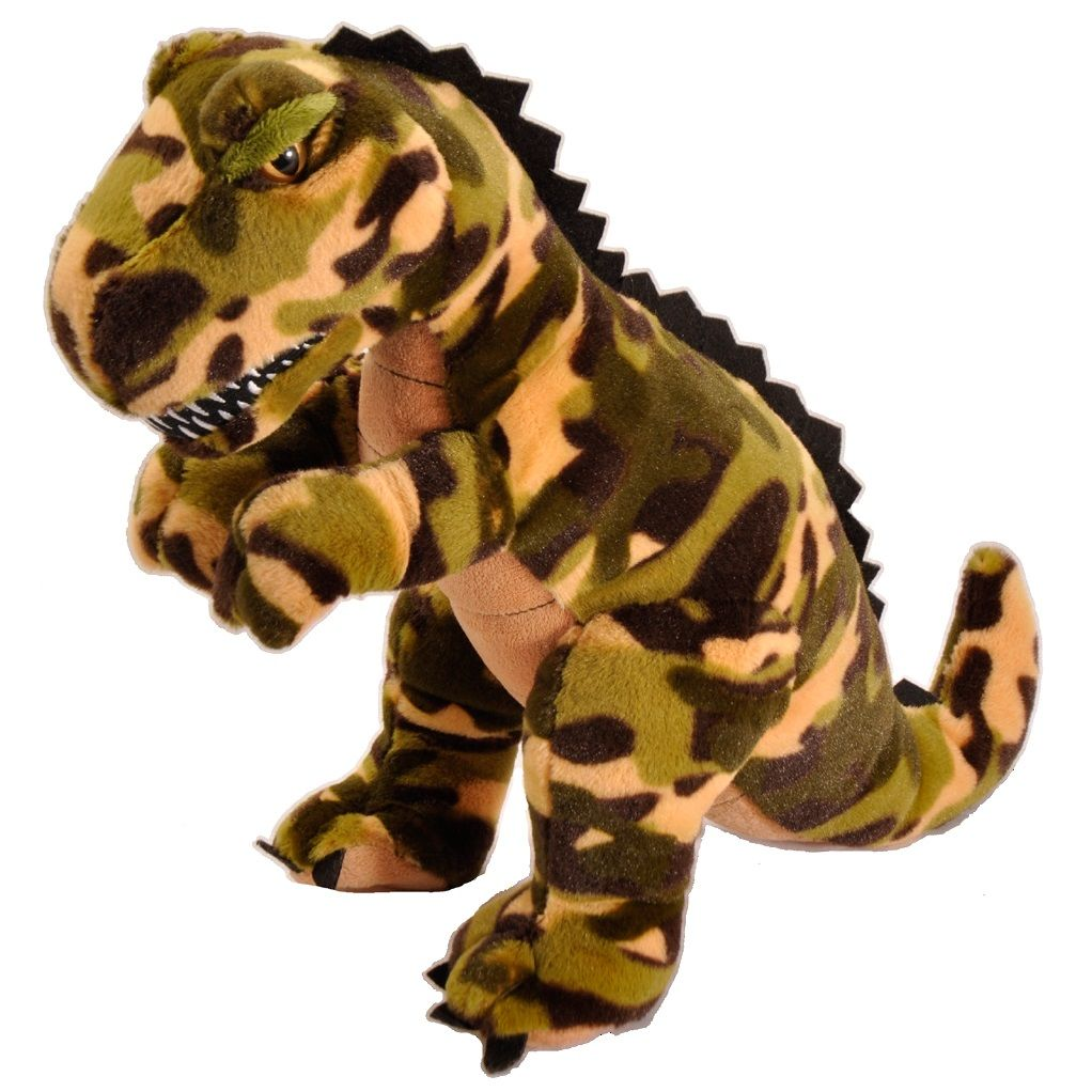 Camo T-Rex 11 inch - Stuffed Animal by The Petting Zoo (414411)