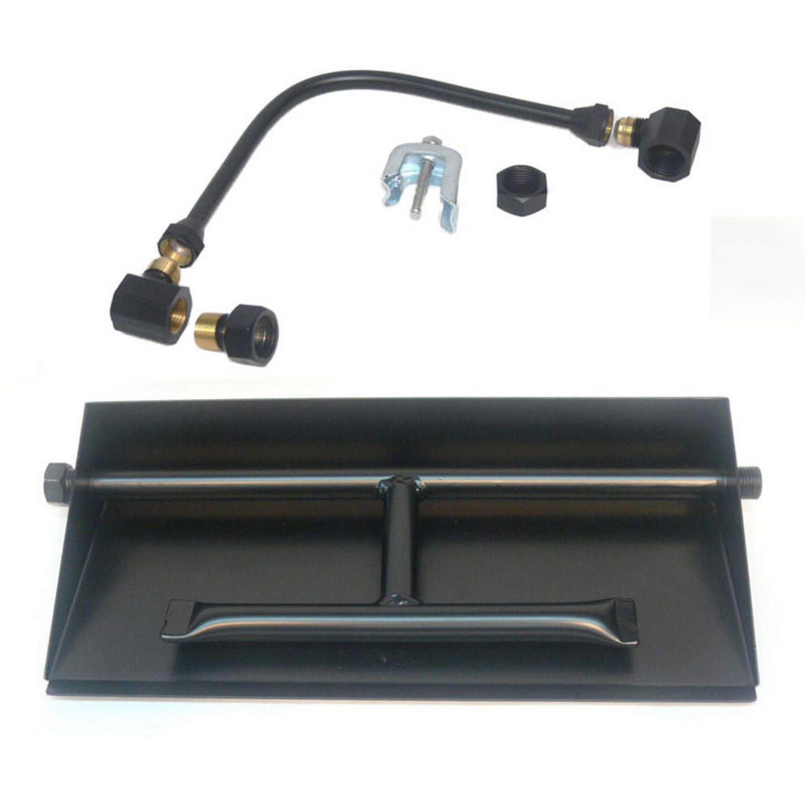 Tretco 14GA Powder Coated Dual Fire Pit Burner Pan Kit