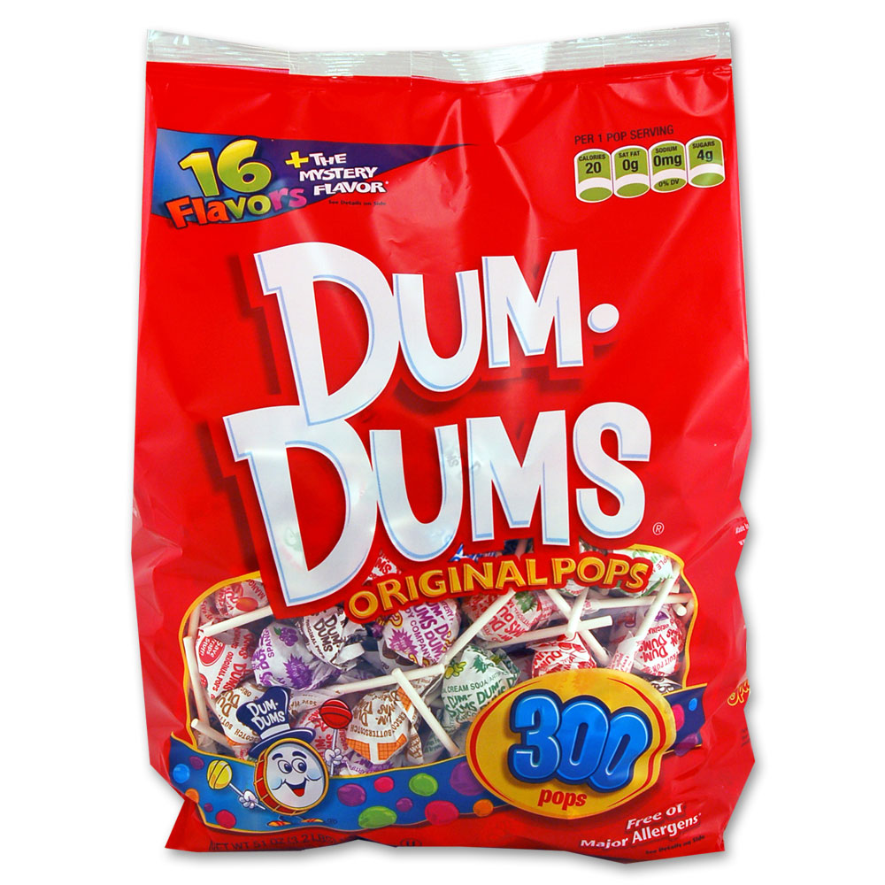 Dum-Dums, Assorted Flavors Original Pops, 50 Oz, 300 Ct