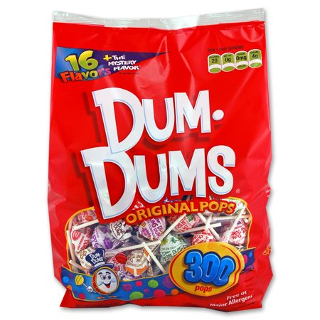 Ring Pops Bulk (Dum-Dums, Assorted Flavors Original Pops, 50 Oz, 300)