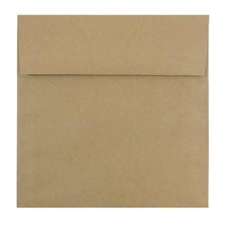 - JAM Paper 8.5 x 8.5 Square Invitation Envelopes,, Brown Kraft Recycled, 25/pack
