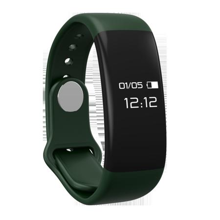 Tirux Bluetooth Smart Watch Bracelet Wristband Heart Rate Monitor Sport Fitness Activity Tracker   Dark Green