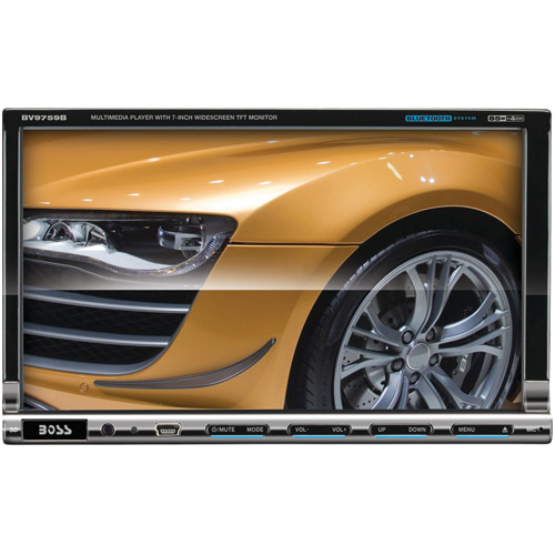 "Boss Audio BV9759BI 7"" Double-DIN In-Dash DVD Receiver with Full Apple iPod Control and Bluetooth"