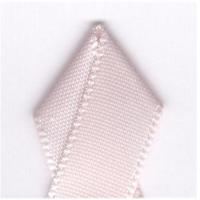 Papilion R074300230115100Y .88 in. Single-Face Satin Ribbon 100 Yards - Powder Pink