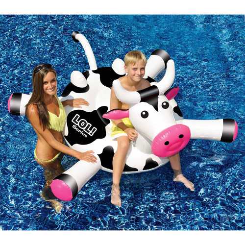 "LOL 54"" Cow Inflatable Ride-On Pool Toy by INTERNATIONAL LEISURE PRODUCTS"