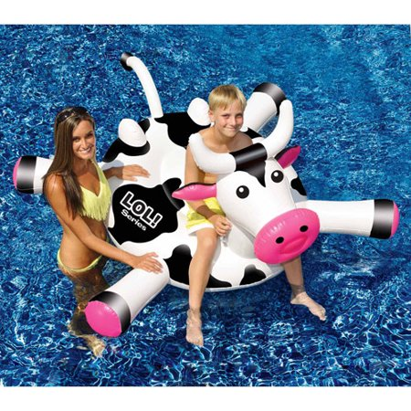Lol 54  Cow Inflatable Ride On Pool Toy