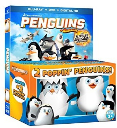 Penguins Of Madagascar (Blu-ray + DVD + Digital HD + 2 Poppin' Penguins)