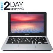 "Refurbished Asus Chromebook C200M 11.6"" HD Laptop Intel 2.1GHz 2GB 16GB SSD Google Chrome OS HDMI Bluetooth Wifi and Webcam"