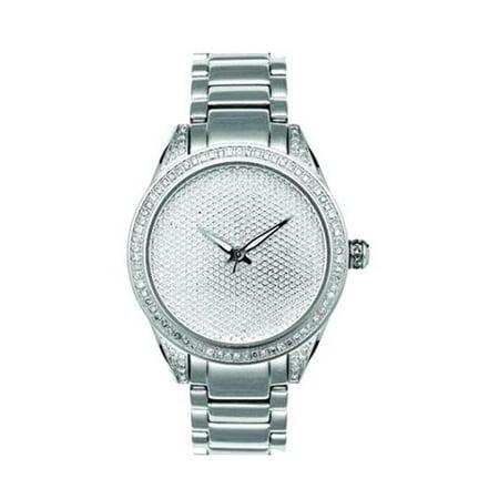Joe Rodeo Heart (Joe Rodeo  Women's Stainless Steel Diamond Watch )