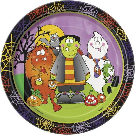 Halloween Monster Land (Halloween 'Little Monsters' Small Paper Plates)