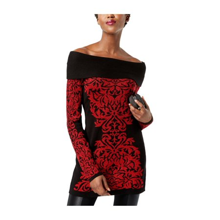 I-N-C Womens Damask Knit Sweater realred 2XL - image 1 of 1