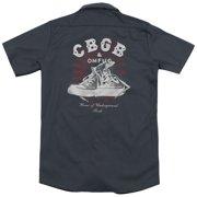 CBGB High Tops (Back Print) Mens Work Shirt