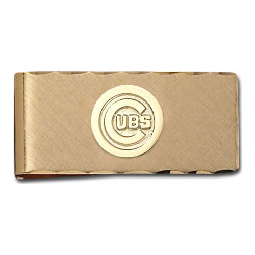 MLB - Chicago Cubs Gold Plated Brass Money Clip