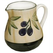 Hand Painted Olive Design Water Pitcher by Forzano Italian Imports Inc