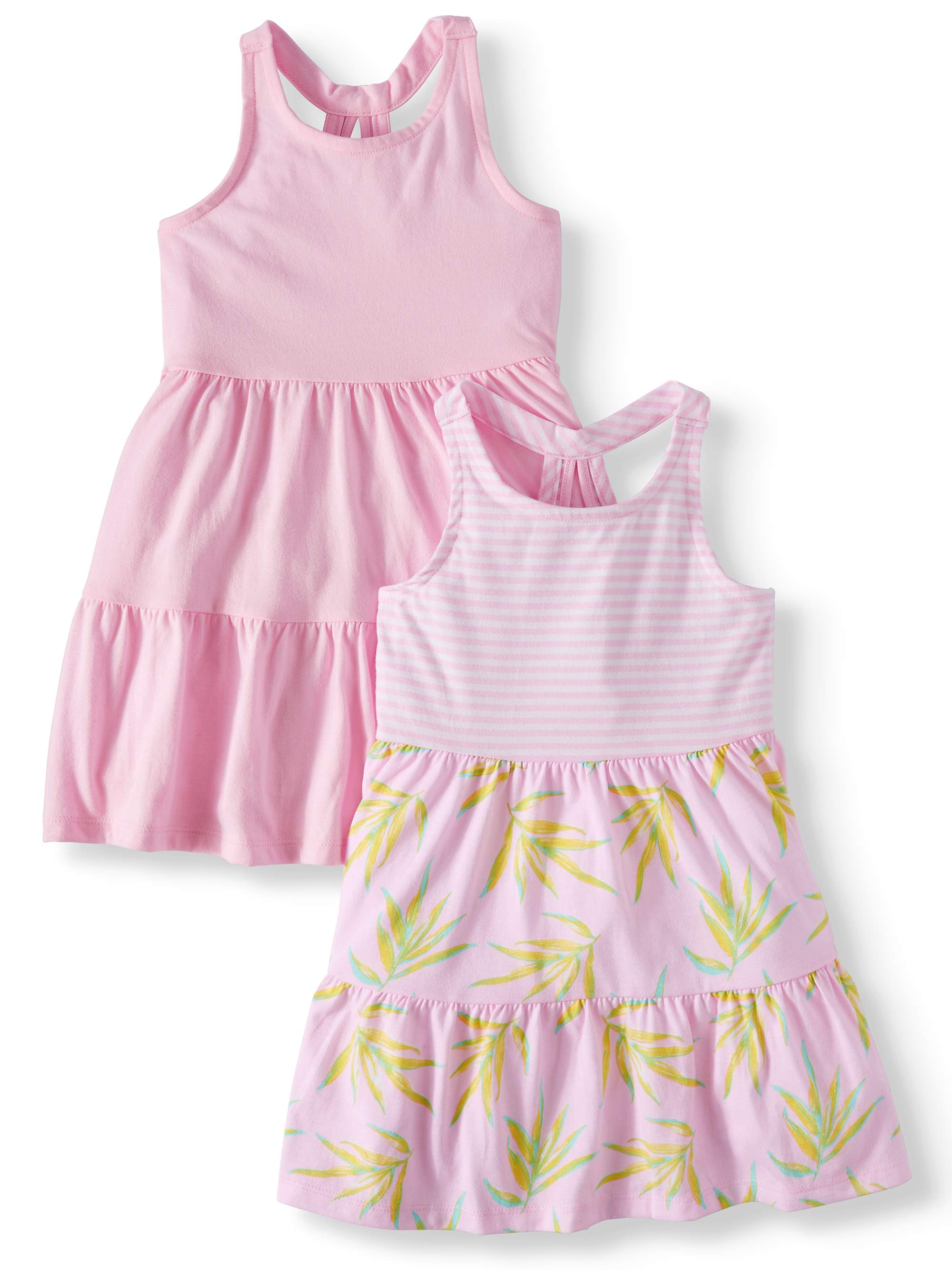 Racerback Printed and Solid Dresses, 2-pack (Toddler Girls)