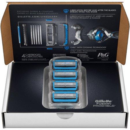 Gillette Fusion ProShield Chill Razor Blade Refills, 4 count