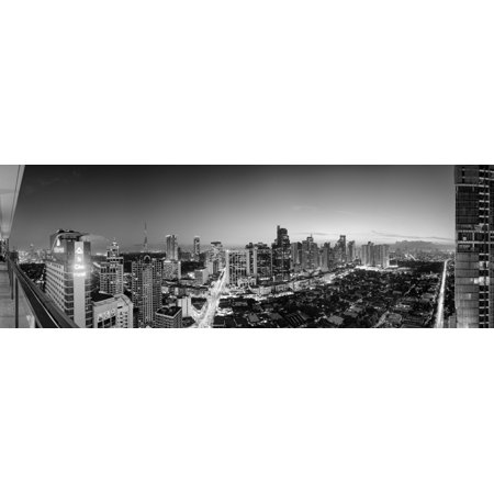 Elevated view of skylines in a city Makati Metro Manila Manila Philippines Poster Print (8 x (Metro City Mall)