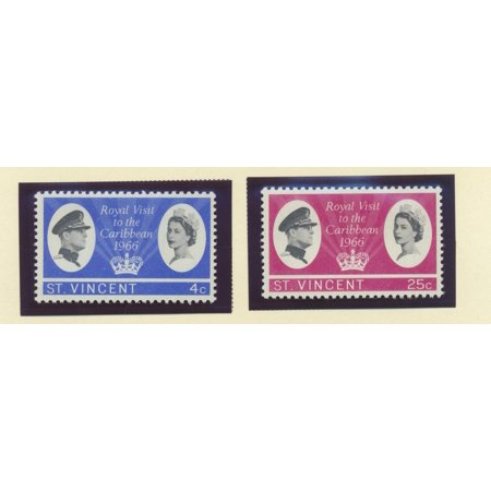 St. Vincent Scott #245 To 246 - Royal Visit, British Carribean Common Design Issue >From 1966 - Collectible Postage Stamps
