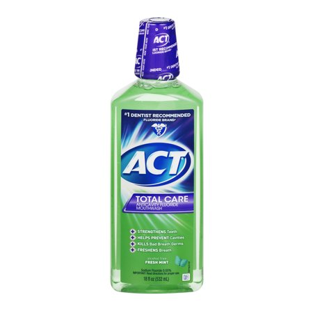 Act Total Care Anticavity Fluride Fresh Mint Mouthwash  18Oz