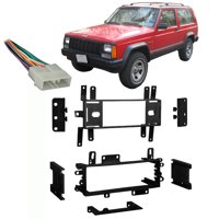 Fits Jeep Cherokee 1988-1996 Single DIN Stereo Harness Radio Install Dash Kit
