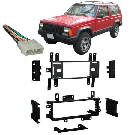 Fits Jeep Cherokee 1988-1996 Single DIN Stereo Harness Radio Install Dash
