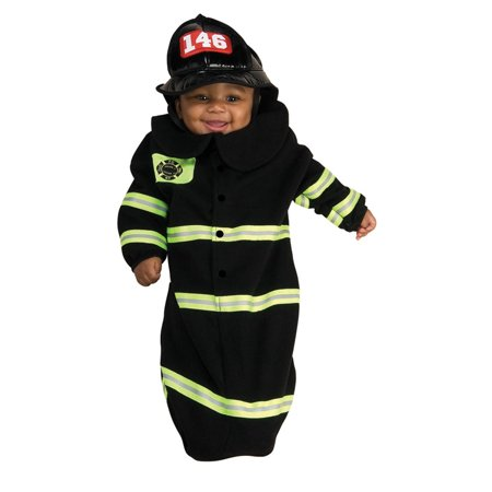 Cute Firefighter Bunting Newborn Baby Halloween Costume Newborn (0-9 months) - Halloween Bunting Ideas