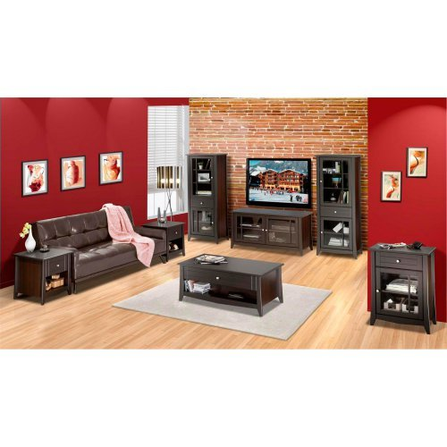 Elegance 49 in. TV console with Curio Cabinet