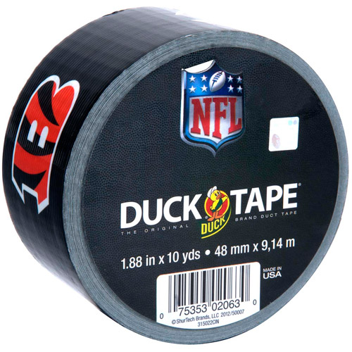 "Duck Brand Duct Tape, NFL Duck Tape, 1.88"" x 10 yard, Cincinnati Bengals"