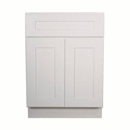 Design House 613166 Brookings Fully Assembled Shaker Base Kitchen Cabinet 24x34.5x24, White Assemble Kitchen Cabinets
