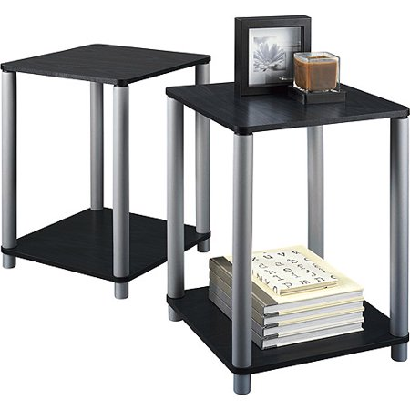 Mainstays End Tables  Set of 2  Black. Mainstays End Tables  Set of 2  Black   Walmart com