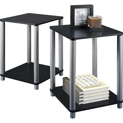 Coffee Table Sets Walmart: Mainstays End Tables, Set Of 2, Black
