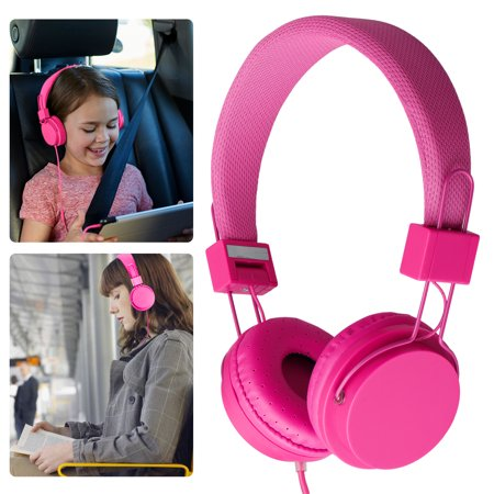 EEEKit Kids Over Wired Ear Headphone, School Child Foldable Corded On Ear Headsets Earphones with Microphone for Samsung Tablet and Other